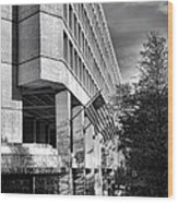 Fbi Building Modern Fortress Wood Print by Olivier Le Queinec