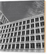 Fbi Building Side View Wood Print by Olivier Le Queinec