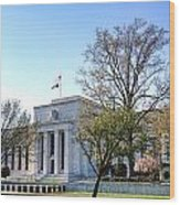 Federal Reserve Building Wood Print by Olivier Le Queinec