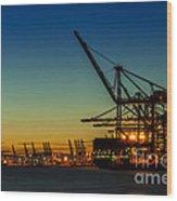 Felixstowe Docks Wood Print by Svetlana Sewell