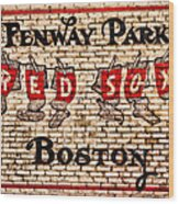 Fenway Park Boston Redsox Sign Wood Print by Bill Cannon
