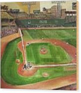 Fenway Park Wood Print by Lindsay Frost