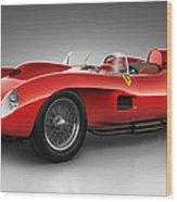Ferrari 250 Testa Rossa - Spirit Wood Print by Marc Orphanos