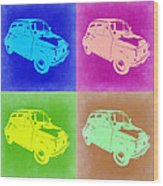 Fiat 500 Pop Art 2 Wood Print by Naxart Studio