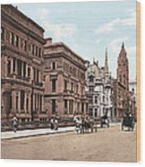 Fifth Avenue Wood Print by Unknown