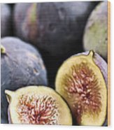 Figs Wood Print by Elena Elisseeva