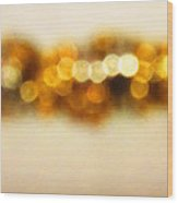 Fire Dance - Warm Sparkling Abstract Art Wood Print by Sharon Cummings