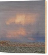 Fire In The Sky Wood Print by Feva  Fotos
