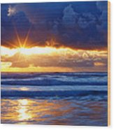 Fire On The Horizon Wood Print by Darren  White