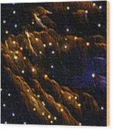 Fireworks As I See Them  4 Wood Print by F Leblanc