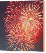 Fireworks Series II Wood Print by Suzanne Gaff
