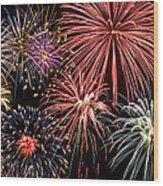 Fireworks Spectacular IIi Wood Print by Ricky Barnard