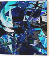 Firmament Cracked #9 - All Which Once Was Beautiful Wood Print by Mathilde Vhargon