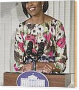 First Lady Michelle Obama Wood Print by JP Tripp