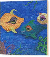 Fishin' For Smiles Wood Print by Tanielle Childers
