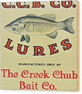 Fishing Bait Advertising Sign Wood Print by Randy Steele