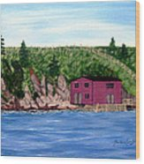 Fishing Gear Stage Wood Print by Barbara Griffin