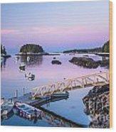 Five Islands Dawn Wood Print by Susan Cole Kelly