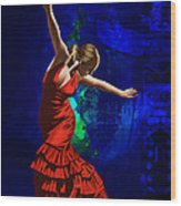Flamenco Dancer 014 Wood Print by Catf