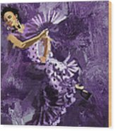 Flamenco Dancer 023 Wood Print by Catf