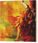 Flamenco Dancer 026 Wood Print by Catf