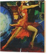 Flamenco Dancer 029 Wood Print by Catf