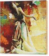 Flamenco Dancer 032 Wood Print by Catf