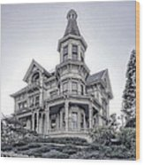 Flavel Victorian Home Wood Print by Daniel Hagerman