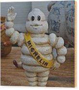 Flea Market Michelin Man Wood Print by Helene Dignard