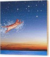 Flight To Sagittarius Wood Print by Kathleen Horner