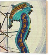 Flippers Facination - Wildwood Boardwalk Wood Print by Bill Cannon