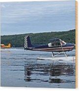 Float Planes On Keuka Wood Print by Joshua House