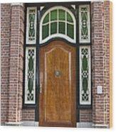 Florishaven Doorway Wood Print by Phyllis Taylor