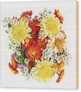 Flower Bouquet Wood Print by Elena Elisseeva