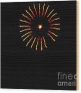 Flower Fireworks Wood Print by Robert Bales