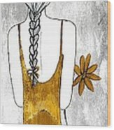 Flower Girl 2 Wood Print by Anne Costello