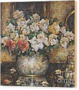 Flowers Of My Heart Wood Print by Dariusz Orszulik