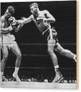 Floyd Patterson Throwing Hard Punch Wood Print by Retro Images Archive