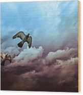 Flying Before The Storm Wood Print by Bob Orsillo