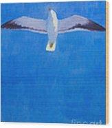 Flying Seagull Wood Print by Lutz Baar