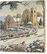 Focus On Christmas Time Wood Print by Ronald Lampitt