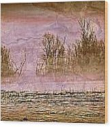 Fog Abstract 3 Wood Print by Marty Koch