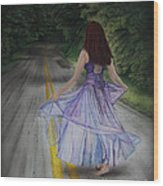 Follow Your Path Wood Print by Jackie Mestrom