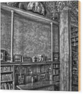 Fonthill Castle Library Wood Print by Susan Candelario