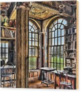 Fonthill Castle Office Wood Print by Susan Candelario