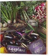 Food - Vegetables - Very Fresh Produce  Wood Print by Mike Savad
