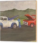 Ford Owner's Nightmare Wood Print by Tom Rose