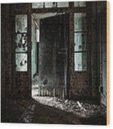 Foreboding Doorway Wood Print by Gary Heller