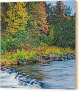 Foretelling Of A Storm Beaver's Bend Broken Bow Fall Foliage Wood Print by Silvio Ligutti
