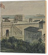 Fort Moultrie Circa 1861 Wood Print by Aged Pixel